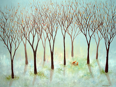 Woodland Foxes by Serena Sussex