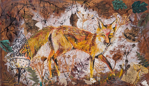 Fox Tea Towel by Clare O'Neill