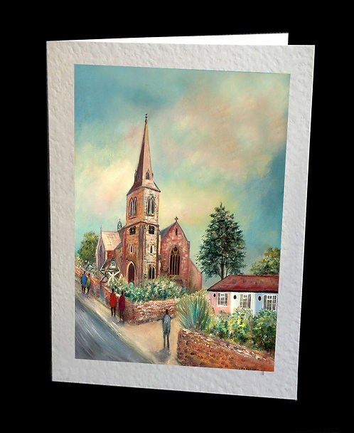 Holy Trinity Hurstpierpoint Greetings Card by Serena Sussex