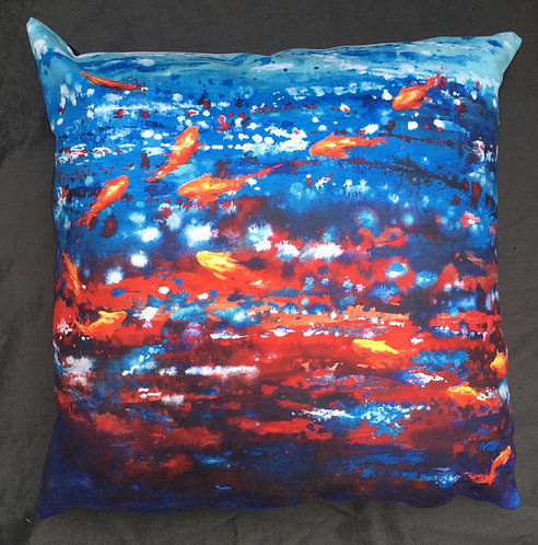 Fish Swimming Cushion by Serena Susse