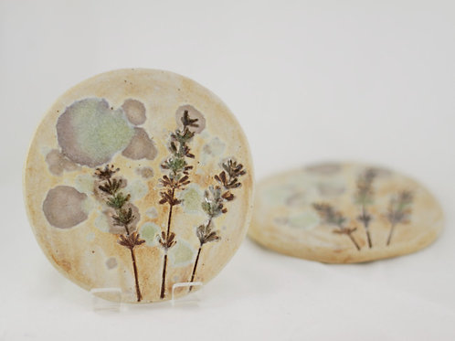 'Wild Meadows' Round Coaster by Cat Brown