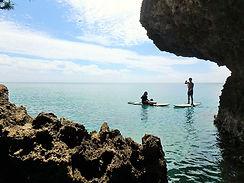 沖縄の海をサップクルージング