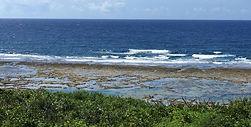 沖縄サーフィン 干潮時の海