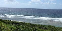 沖縄サーフィン 満潮時の海