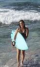 沖縄でサーフィンをがんばるママサーファ―