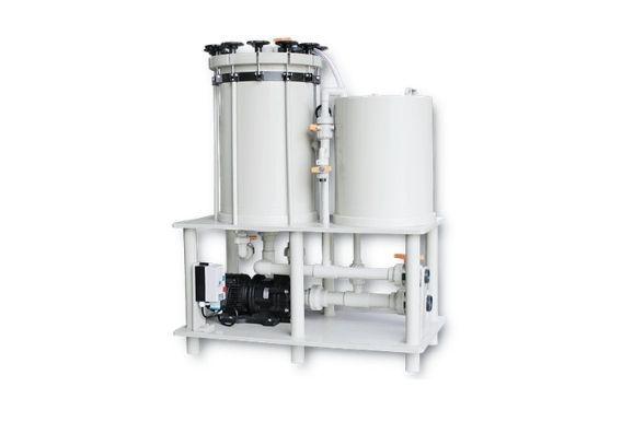 Aktif Karbon Yüklemeli 18 Kartuşlu Asit Filtresi (Pompa Dahildir.)