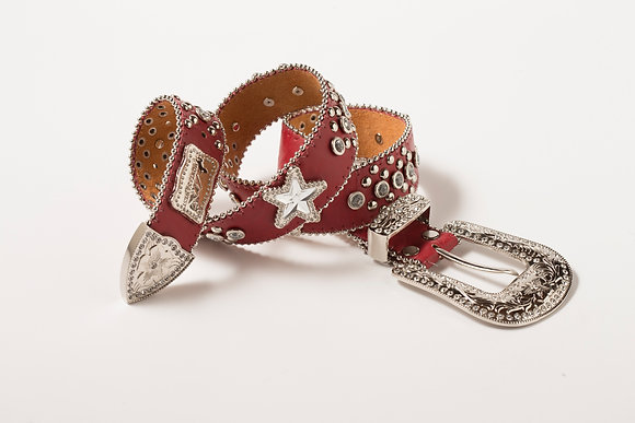 Red Ladies Western Belt