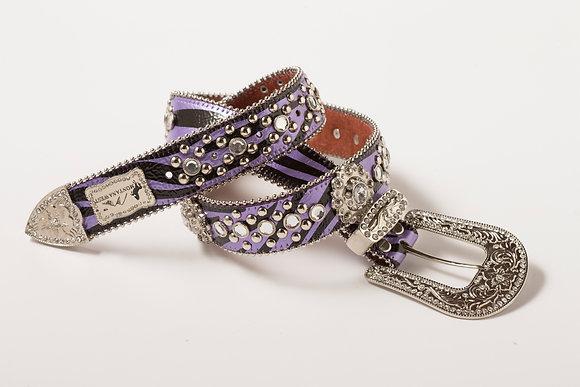 Purple Zebra Ladie's Western Belt
