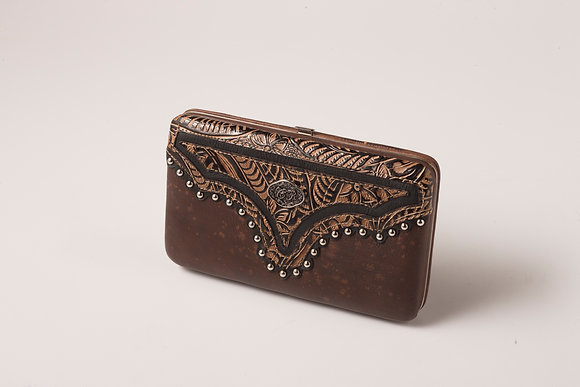 Brown Tooled Wallet