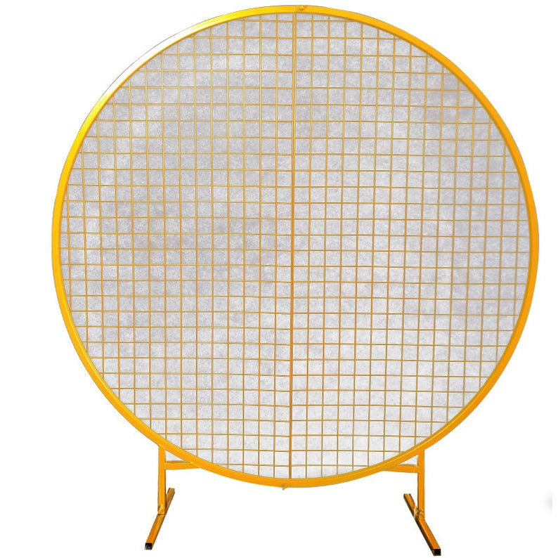 GOLD CIRCLE HOOP ARCH WITH MESH