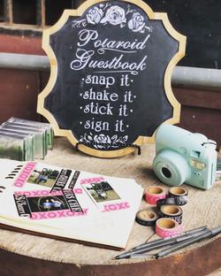 polaroid & chalkboard