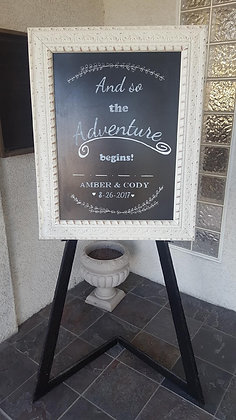 Customized Chalkboard Sign - Rental