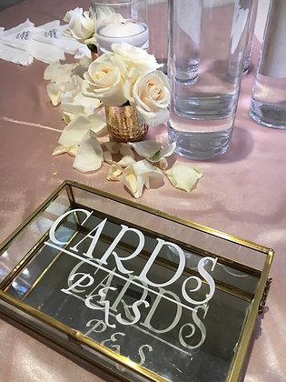 Gold Glass Cardbox - Rental