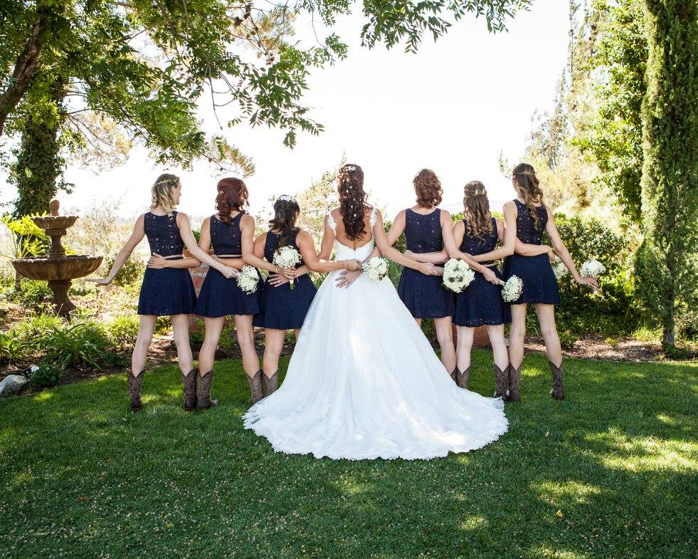 Country Girls with Bride