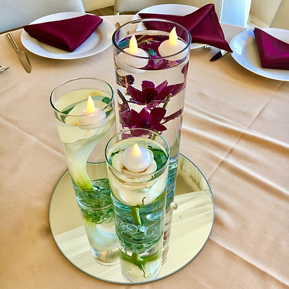 Three Cylinder Centerpiece - Rental