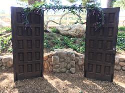 wood door backdrop