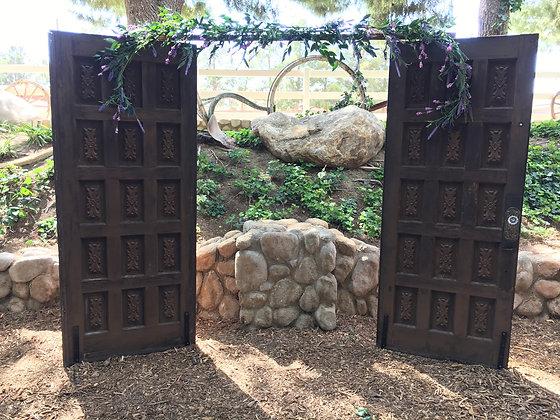 Rustic Two Door Arch - Rental