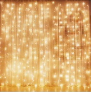 Sheer Twinkle Lights Backdrop - Rental