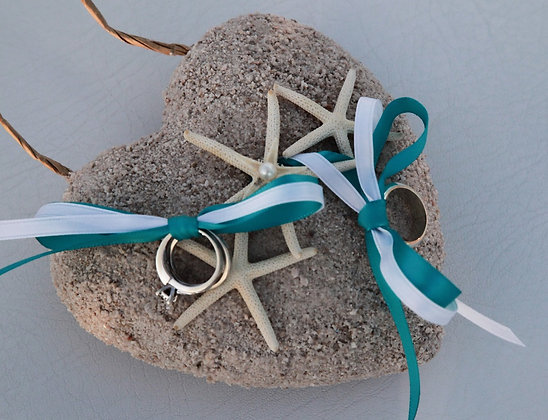 Sand Heart Ring Pillow