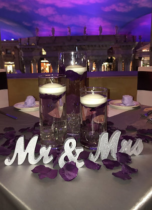 Sweetheart Table Mr & Mrs Sign - 3""