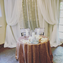 fabric and lights sweetheart backdrop