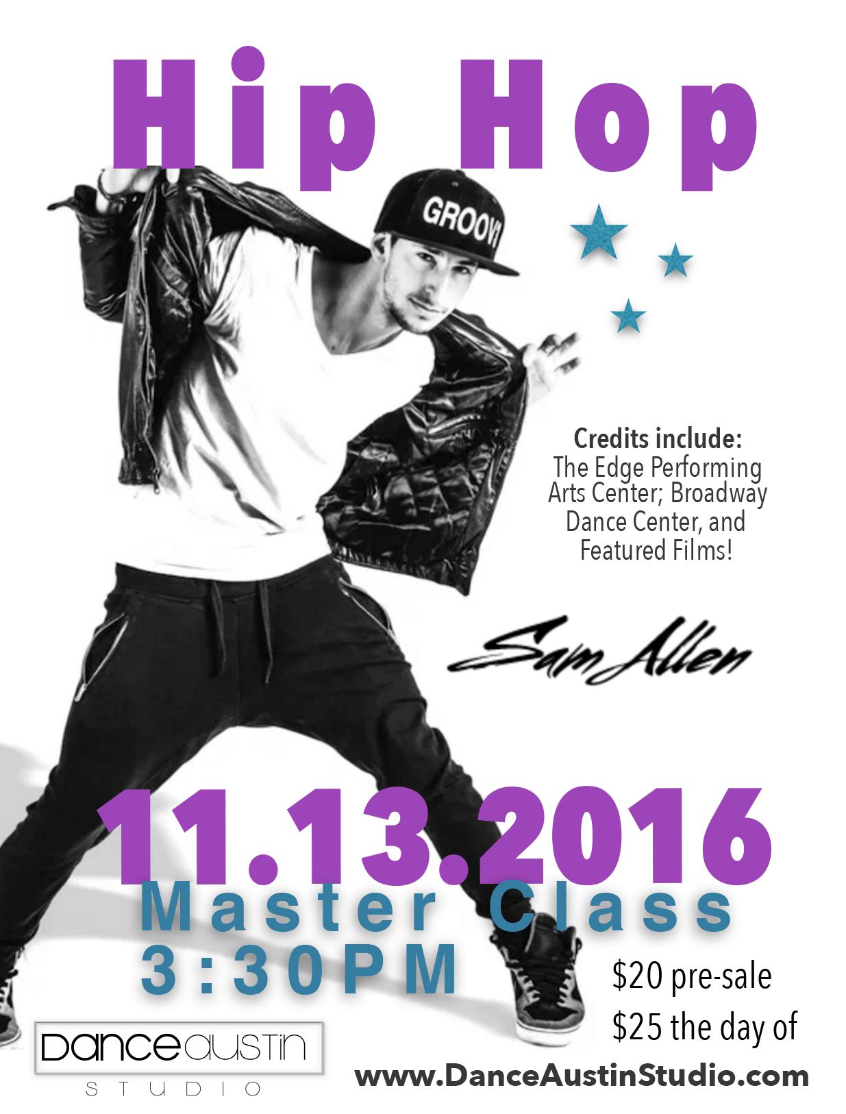 Sam Allen Master Class