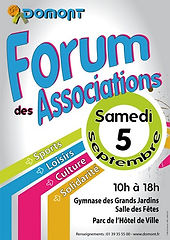 Forum des association Domont Crocus Blanc