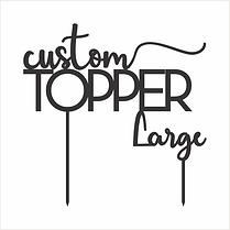 Large Bespoke Topper (20x20cm)