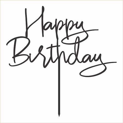 Birthday Cake Topper 072