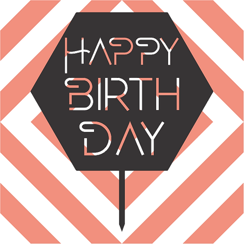 Birthday Cake Topper 079