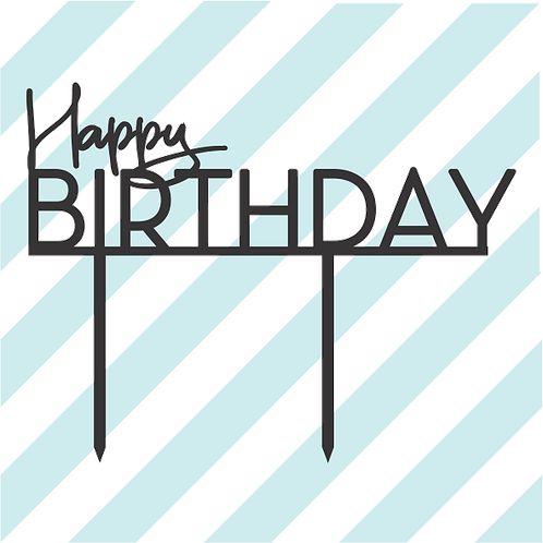 Birthday Cake Topper 077