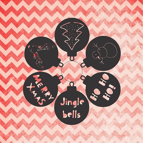 Christmas Baubles Set 3