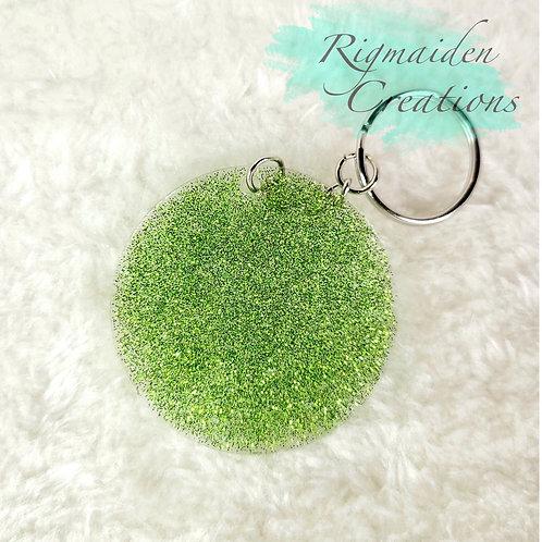Light Green Circle Keychain