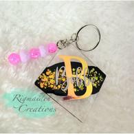 Custom B Acrylic Keychain