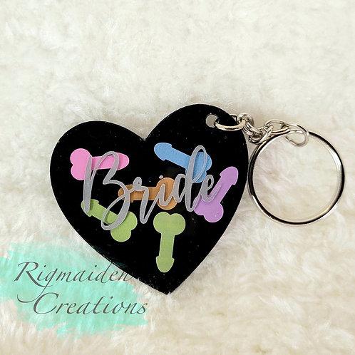 Bride Keychain - Neon Willy Gag Gift