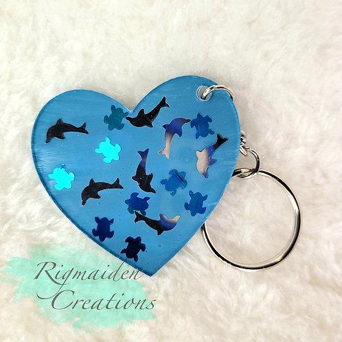 Underwater Theme Acrylic Keychain