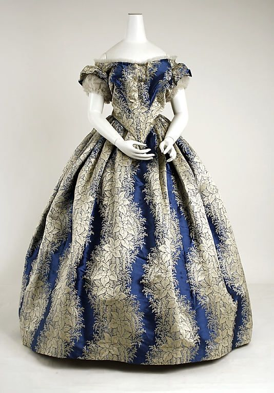 french day dress 1860's