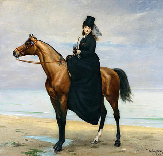 Equestrian portrait of Mademoiselle Croizette by Duran