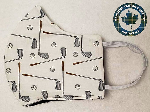Golf Print Face Mask - ALLOW UP TO 10 BUSINESS DAYS FOR SHIPPING