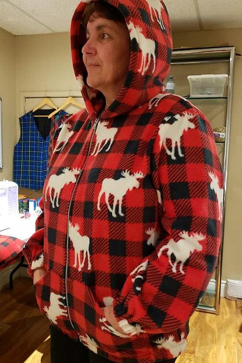 Moose Print Fleece Jacket