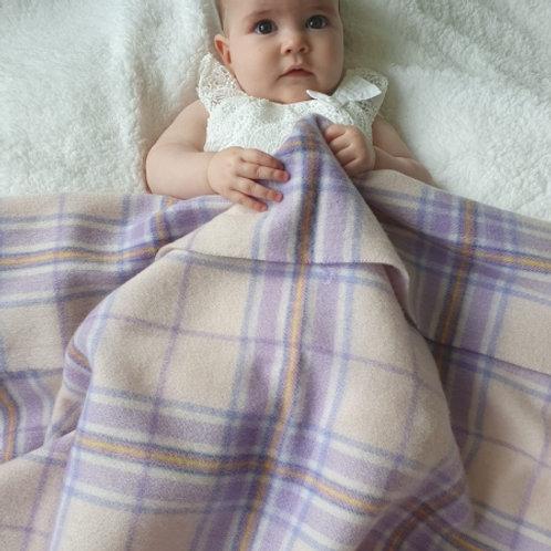 Little Lamb Lambswool Baby Blankets Pink