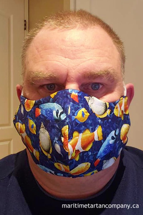 Tropical Fish Face Mask - ALLOW UP TO 10 BUSINESS DAYS FOR SHIPPING