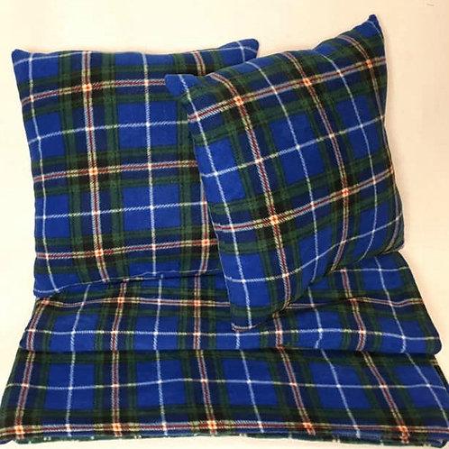 Nova Scotia Tartan Throw Pillow and Blanket Set