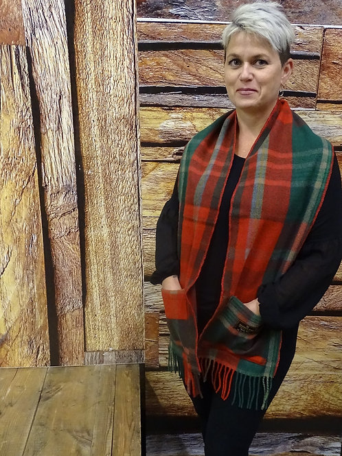 New Brunswick Tartan Wool Pocket Scarf