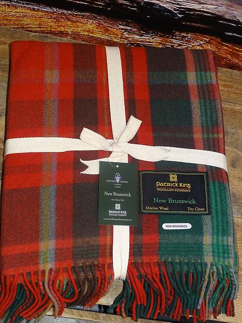 New Brunswick Tartan Deluxe Merino Wool Blanket