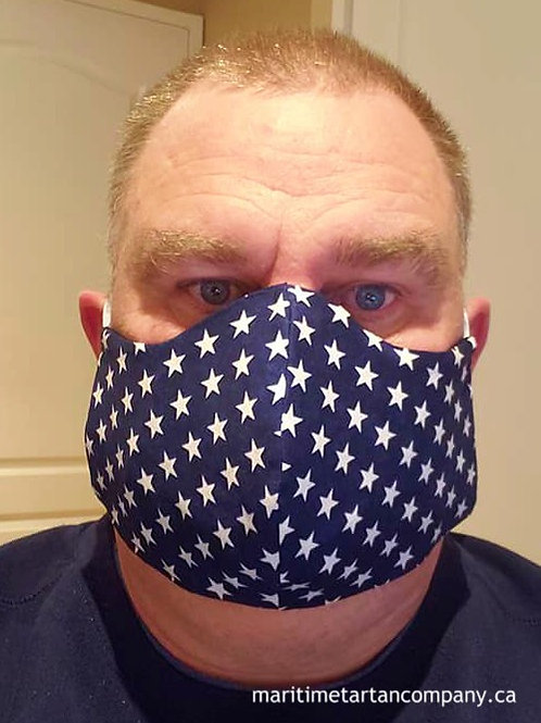 Star Print Face Mask - ALLOW UP TO 10 BUSINESS DAYS FOR SHIPPING