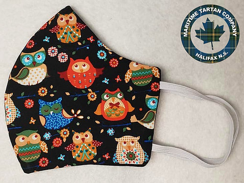 Owl Print Face Mask - ALLOW UP TO 10 BUSIENSS DAYS FOR SHIPPING