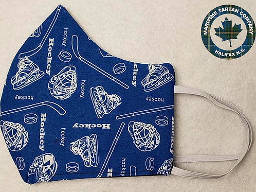 Hockey Print Face Mask - ALLOW UP TO 10 BUSINESS DAYS FOR SHIPPING