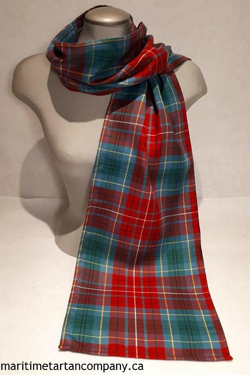 British Columbia Tartan 6 Foot light scarf