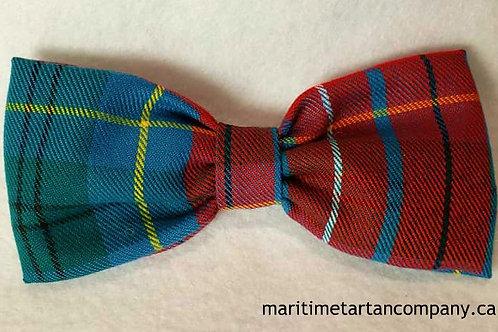 British Columbia Tartan Clip On Bow Tie (Adult)